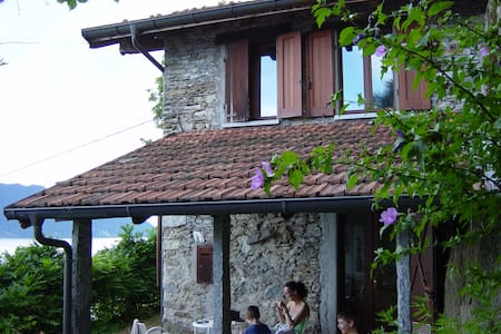 Cosy stone cottage with lake view - Cannero Riviera