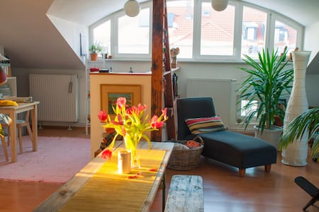 Private room in cozy attic. - Markkleeberg - Appartement
