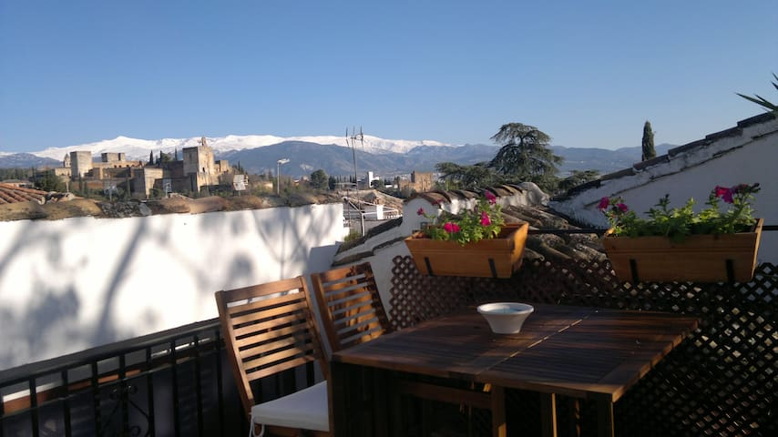 ALBAYCIN HOUSE WITH PARKING. VIEWS  - Granada - Ev