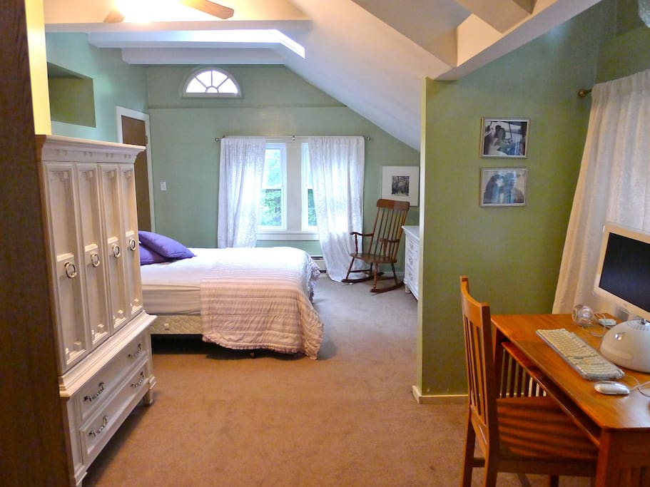 One of the spacious bedroom suites