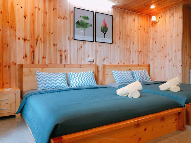 Wooden Bedroom for Family or Friend group