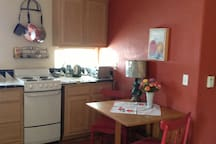 The kitchen --whether you want a cup of tea or a full dinner, the kitchen is fully equipped--