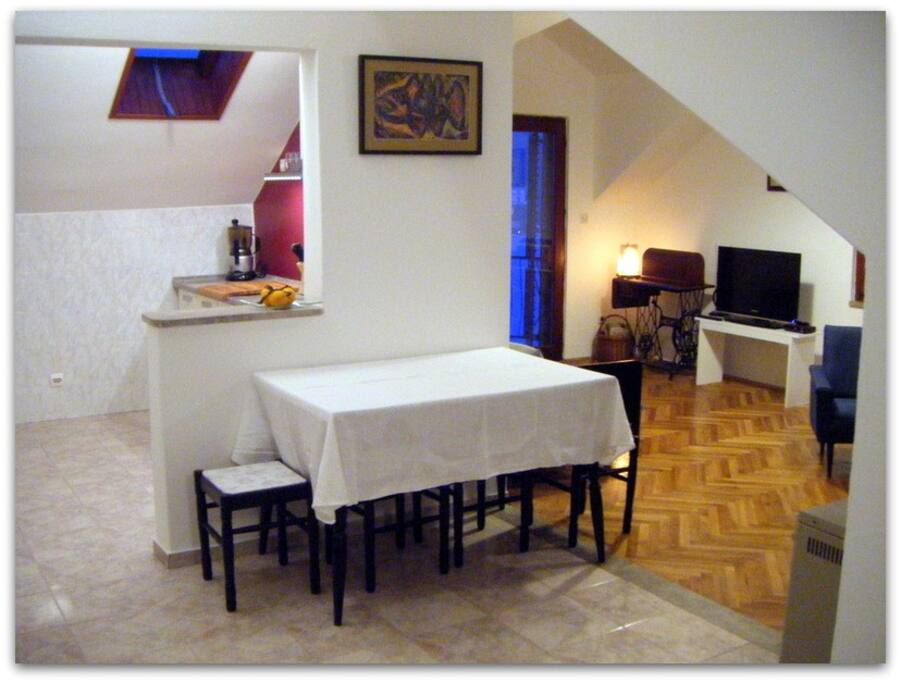 Kitchen~Dining~Living room