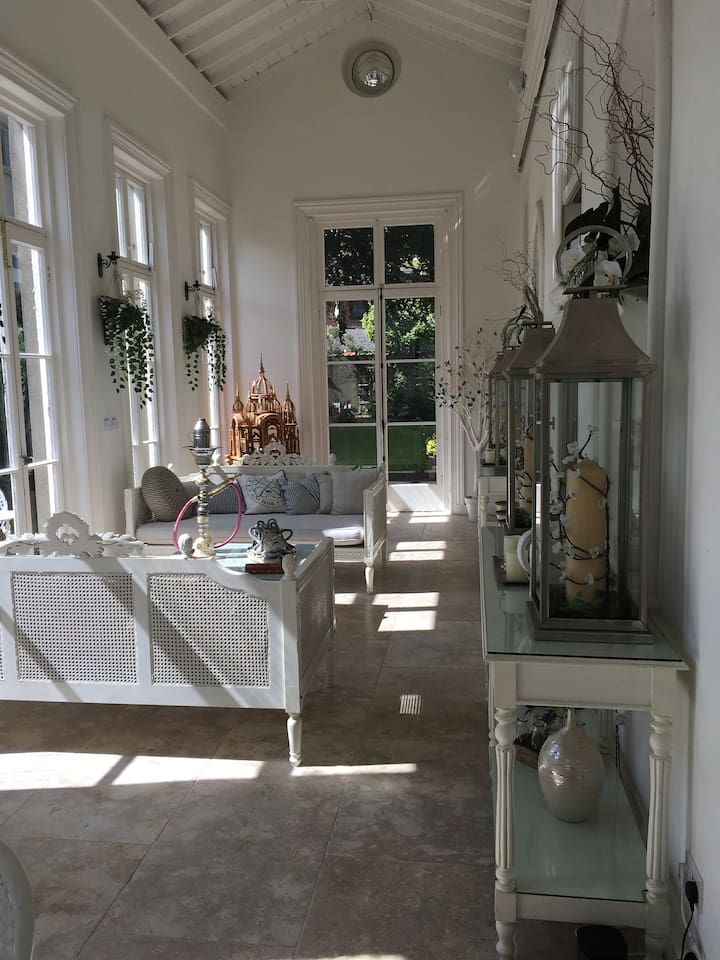 Orangery for summer breakfast, for daytime and evening use, unless being used