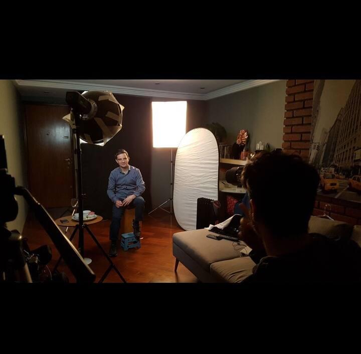 Sala estúdio (ensaios fotográficos e gravações)