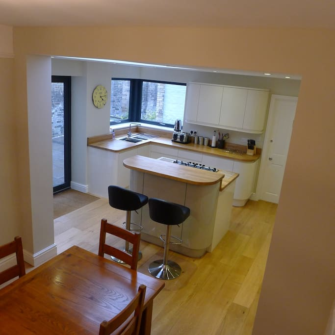 The elegant fully equipped kitchen