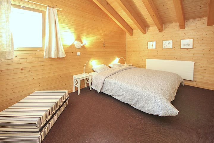 Room #1: big room with double bed and additional foam bed (folded). Baby bed also at your disposal.