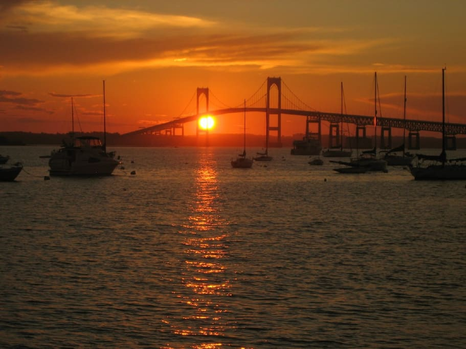 Sunset Newport Bridge