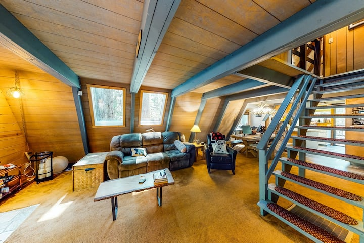 New listing! Stylish cabin w/ private hot tub, loft, & spacious deck - dogs OK!