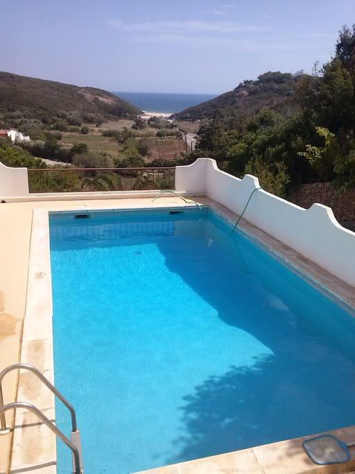 Swimming pool and Zavial beach view