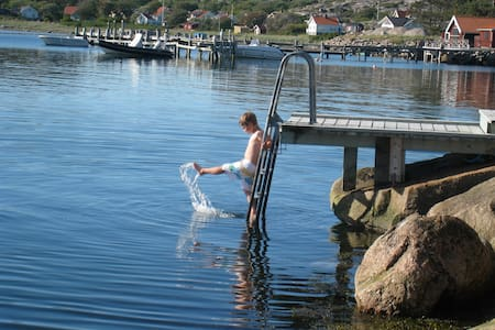 Summer, saltwater baths, by the sea - Tanum Municipality - Cabin