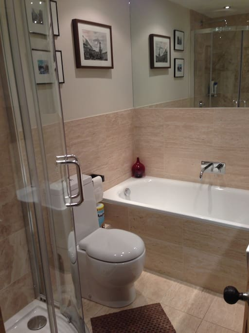 Separate bath and shower