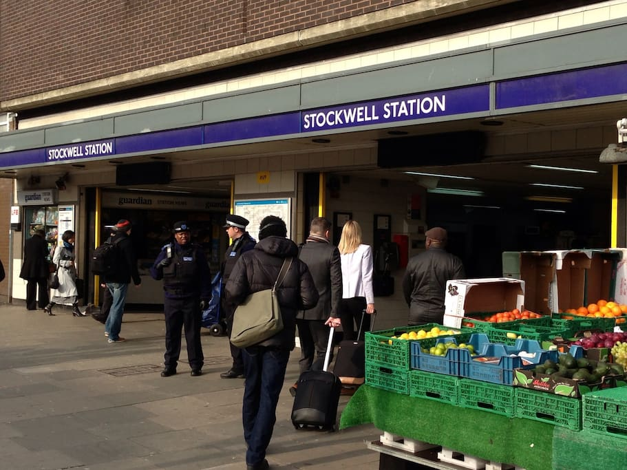 Stockwell station - 8 minutes to Oxford Circus