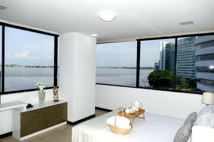 Ecu Suites Front View Of River Exclusive Santa Ana