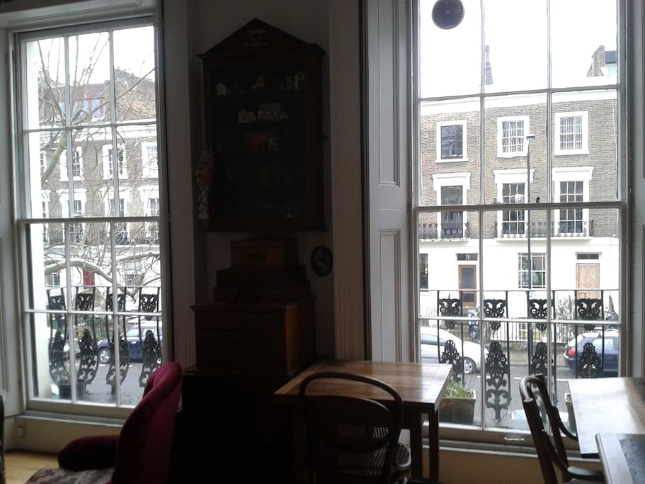 Camden Town bedroom: view of the street