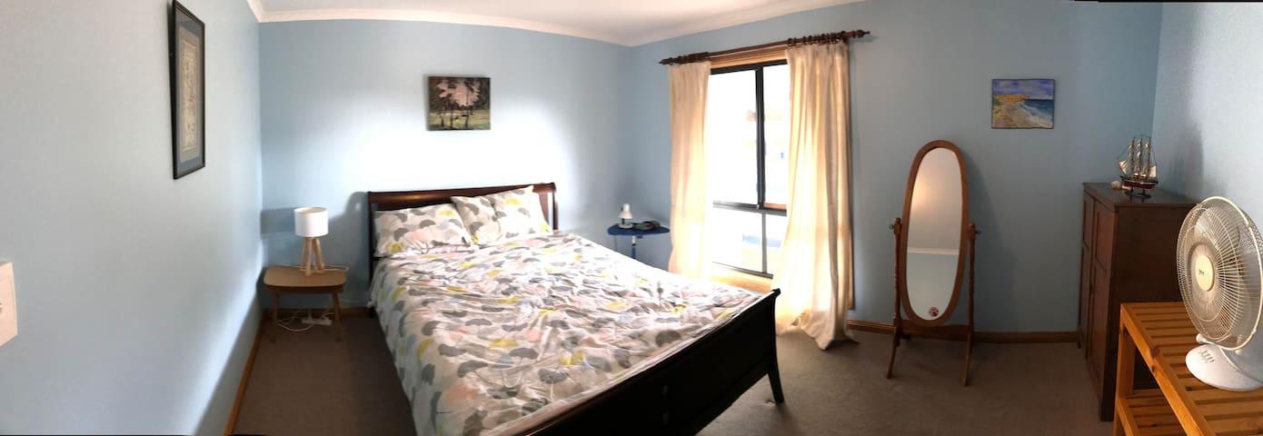 Main bedroom. Queen bed . Repainted 2020