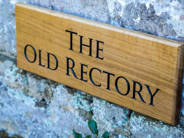 Classic wooden Old Rectory Sign