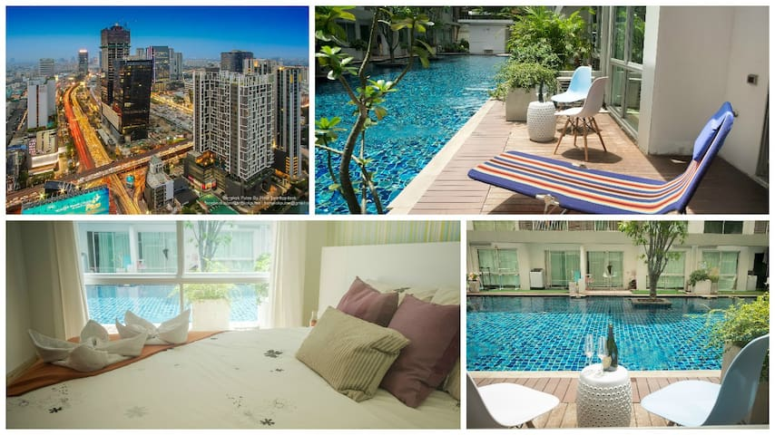 Pool Access. City Center, WiFi, Shopping, Food - Bangkok