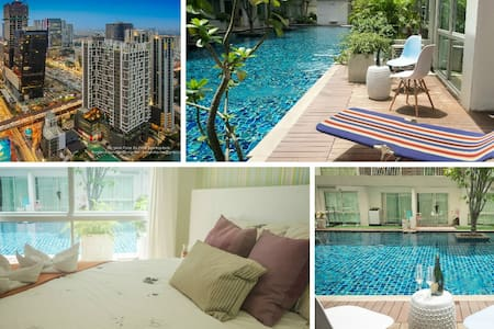 Pool Access. City Center, WiFi, Shopping, Food - Bangkok - Apartemen