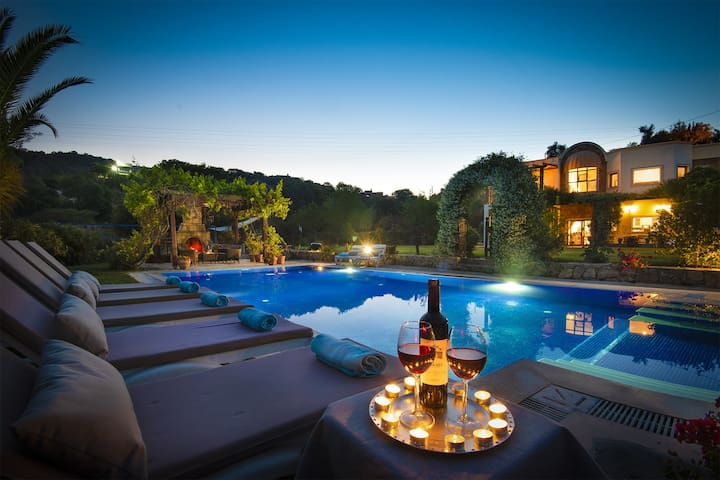 Tranquil Private Villa on 2 acres with large pool