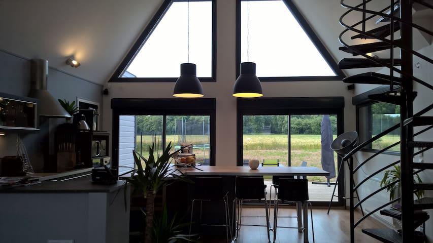 Grande Maison bois architecte moderne 5min Amiens