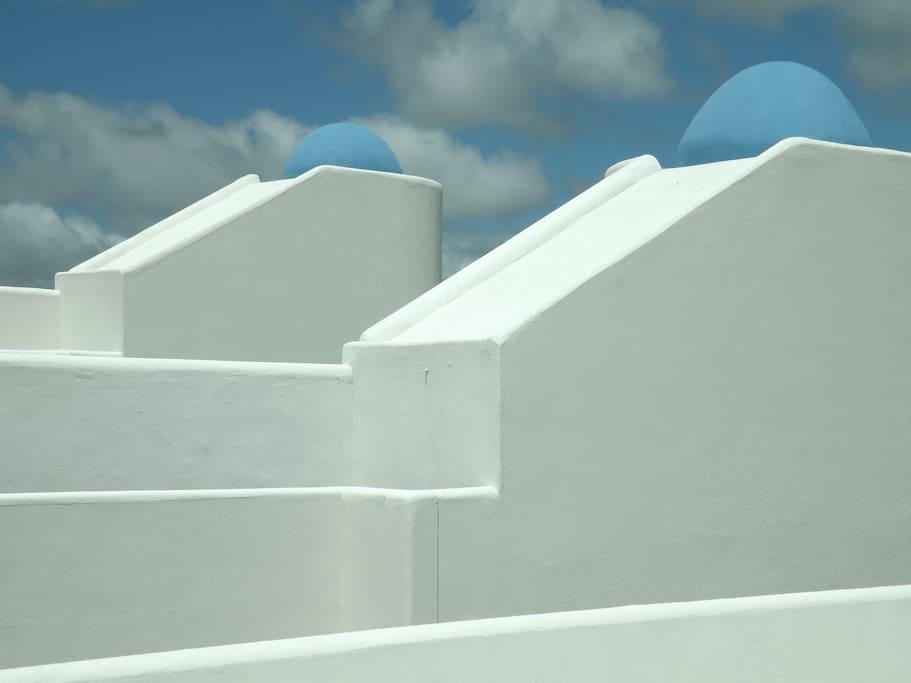 Detalhes arquitetura mediterrânea