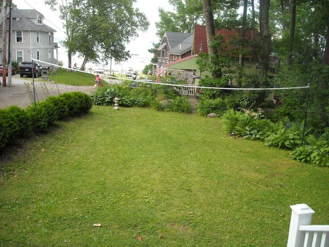 View from hammock and porch. Ready for badminton?