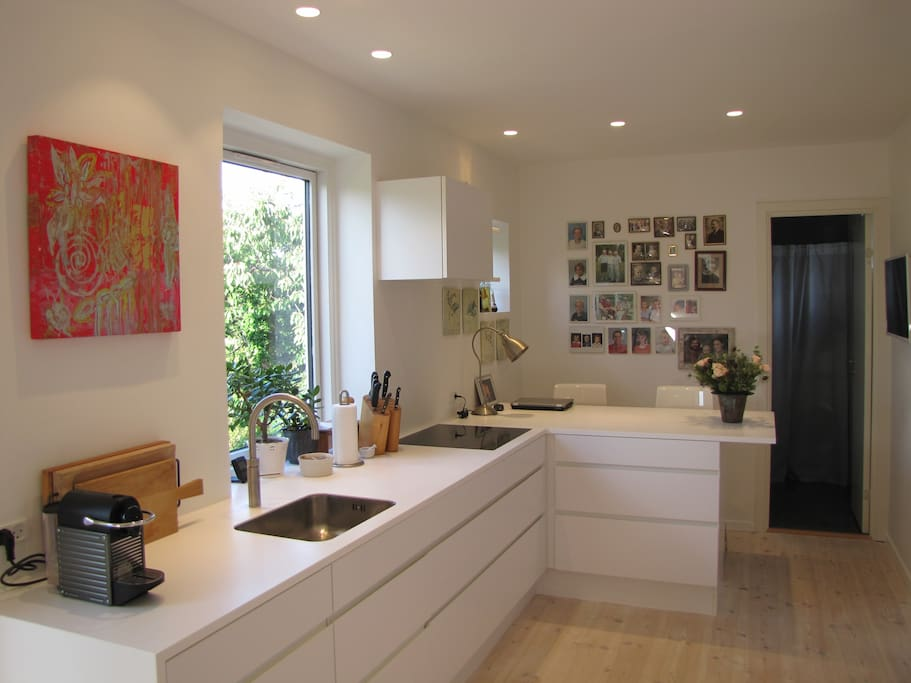 Modern kitchen with bar