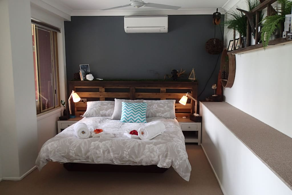 Cool down in the air conditioned bedroom