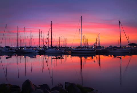 Bayfield Condo Rental Unit 202.  Waterfront view