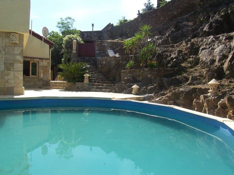 Pool with garden landscape