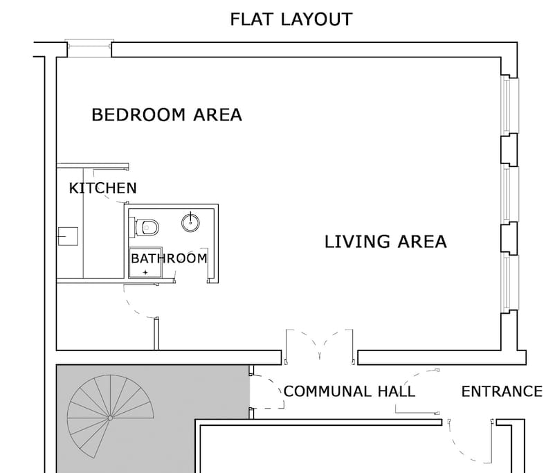 Floor plan showing the layout