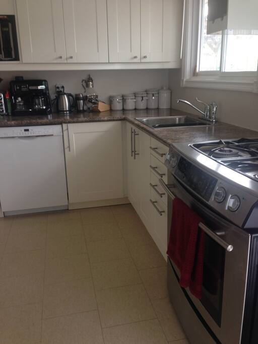 Fully functional kitchen with gas stove