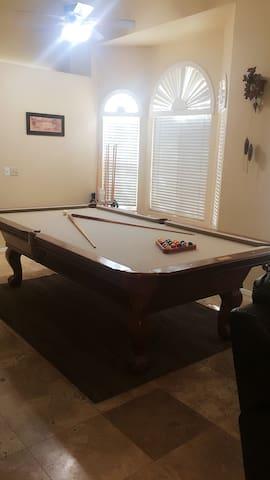 Tournament size pool table for family entertainment
