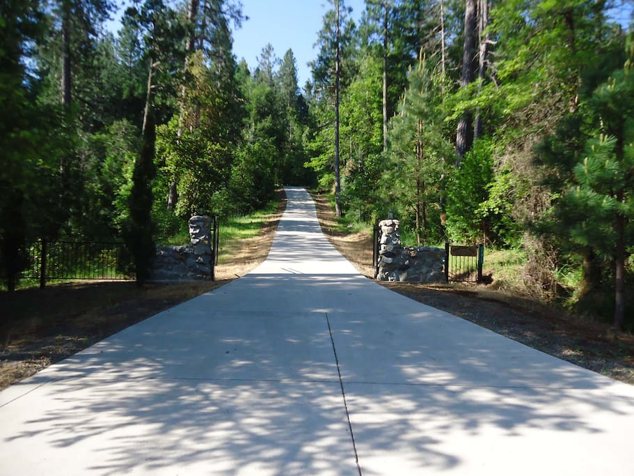 Driveway leading to the property