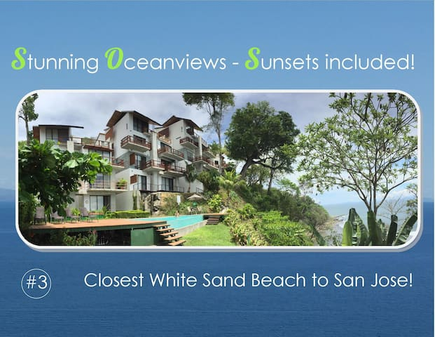 STUNNING OCEANVIEWS, SUNSET & BEACH IN PUNTA LEONA