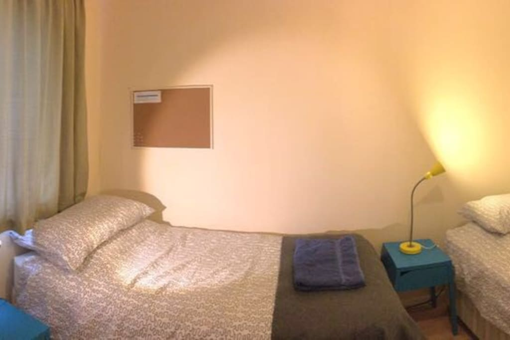 Clean and welcoming twin room