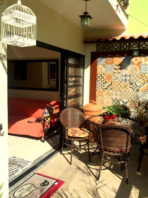 Varanda com churrasqueira/Balcony with barbacue grill