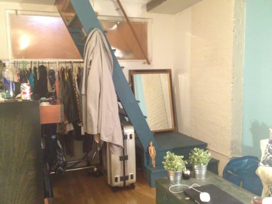 Closet and Desk Space
