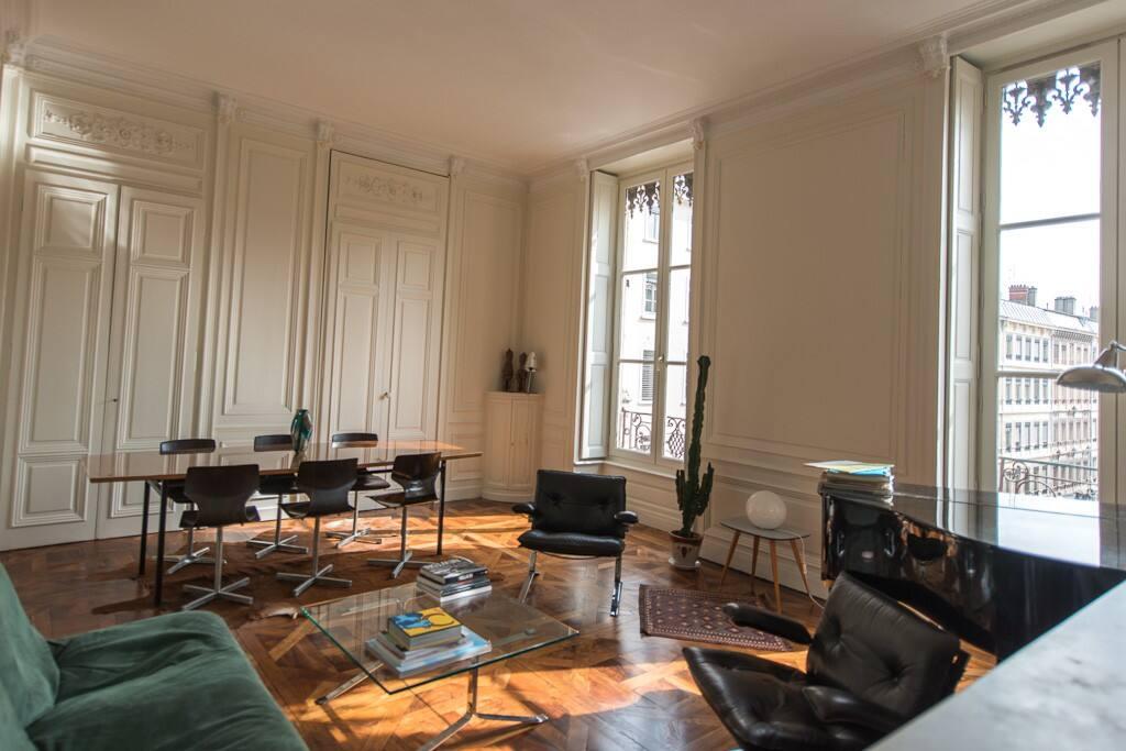 Grand appartement h tel de ville appartements louer for Appartement original lyon