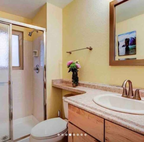 Queen Bed + Full Bathroom (private)
