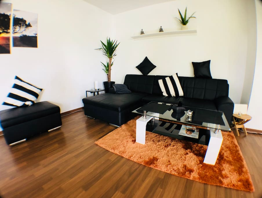 the modern furnished living room to feel good