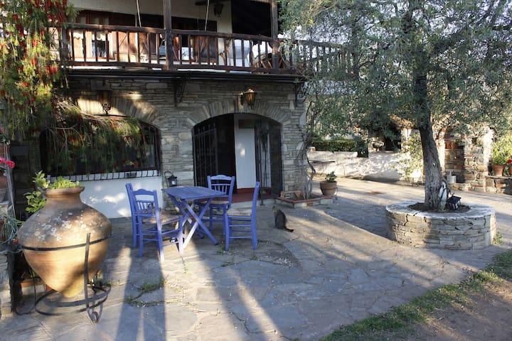 House in an olive grove, near the sea - Halkidiki - Huis