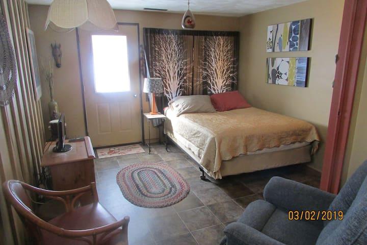 Bedroom Area of Studio Apt.