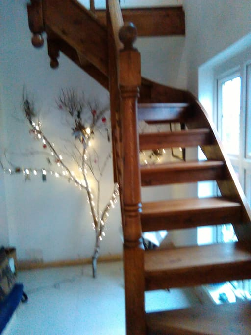 A cottage style staircase