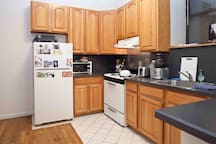 Fully stocked kitchen for you to use