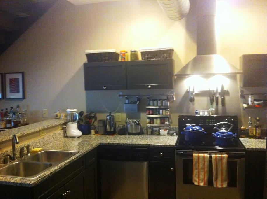 Kitchen - You can either do your own cooking, go out to eat or we can cook for you