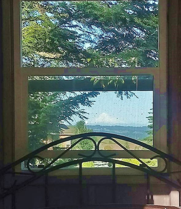 see Mount Hood through your window!