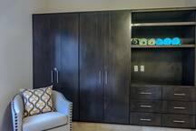 Twin bedroom closets