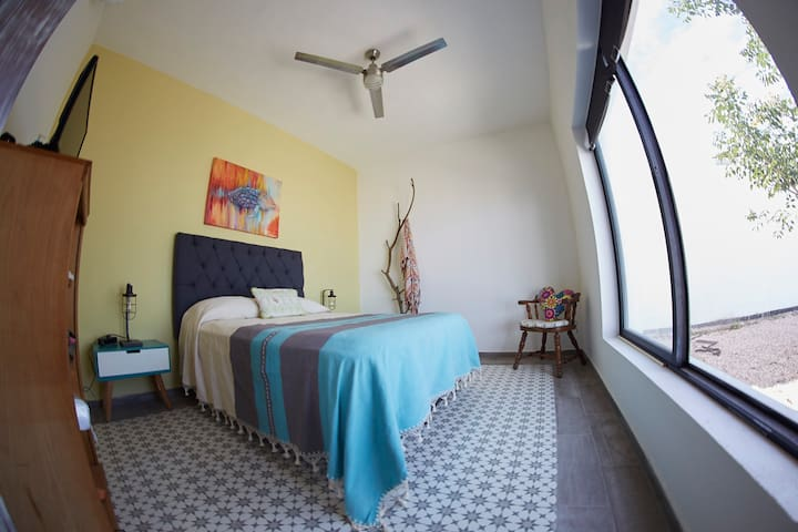 the bright and peaceful room